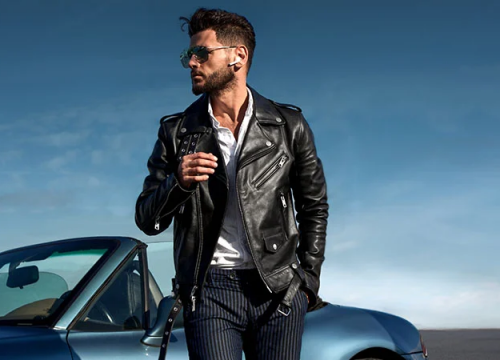 Hooded Leather Jackets for Men